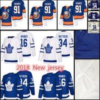 Wholesale John 16 - 22018 New York Islanders Hockey Jerseys Men's #91 John Tavares 16 Mitch Marner 34 Auston Matthews stitched Jersey Cheap sales