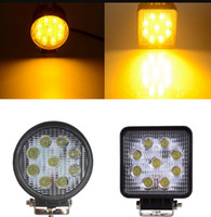 ingrosso lampade a nebbia gialle-LED Working Gold Yellow Light Engineering Lamp Flood Lamp Car Truck Off-road Vehicle Motorcycle Tractor Truck Trailer SUV JEEP Bus Fog-proof