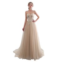 Wholesale cheap maternity wedding dresses for sale - Cheap Sweetheart Neck Bridesmaid Dresses Lace Up Back A Line Sweep Train Lace Appliques Maid Of Honor Wedding Guest Gown In Stock