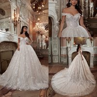 Wholesale wedding dresses for plus size bridal for sale - Group buy Luxury Country Plus Size Off Shoulder Lace Wedding Dresses Backless Applique Wedding Bridal Gowns For Wedding Party Dress Vestidos