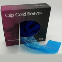 Wholesale Blue Artists - Blue Tattoo Clipcord Sleeves Disposable Plastic Clipcord Cover Brand New Supplies For Professional Studio As Well As artists