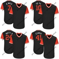 Wholesale yoyo blue resale online - Chicago Tim Anderson B Moss Yoan Moncada YoYo Tyler Saladino Saly Adam Engel Clarke Players Weekend Baseball Jerseys