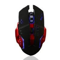 en iyi fare toptan satış-USB Kablolu Gaming Mouse 3200 DPI Ergonomik Hızlı Oyun Fare Fareler PC 1000Hz Düz Perakende Ambalaj Ile Kablolu Fare