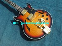 gitarlar tremolo china toptan satış-Çin'den Tremolo OEM ile Toptan Gitar Sunburst Vintage Klasik Caz Gitar