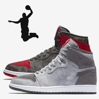 Wholesale Popular Culture - Popular 1s Camo 3M Reflect Basketball Shoes Men 1 High Camouflage Red Grey Sports Sneakers With Shoes Box xz114