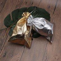 çorap torbaları gümüş toptan satış-11x16 cm 300 adet Altın / Gümüş Kaliteli Jewerly Hediye Torbalar Kolye Küpe Bilezik Depolama Ambalajlar Düğün Şeker İpli Çanta