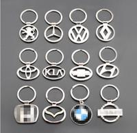 ingrosso doni chevrolet-Chevrolet mazda volvo ecc 3D in lega di zinco Car Logo portachiavi portachiavi Ciondolo regalo negozio 4S