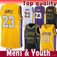 Wholesale quality soccer balls - top quality 23 LeBron James Men Youth Kids Jersey 2018 NEW 2 Ball 0 Kuzma 24 Kobe Bryant LeBron James Black Gold the city soccer Jerseys