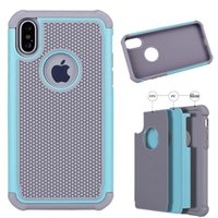 Wholesale matte hybrid rubber case - For iPhone X Hybrid 3 In 1 Rugged Case Impact Rubber Matte Shockproof Heavy Hard Case For iPhone 8 7 6 Plus 5 5s