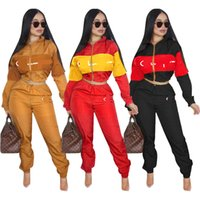 Wholesale flannel yoga pants for sale - 2018 Women New Fashion Tracksuits Cardigan Hoodie and Pants piece Set Autumn Winter Design Sport Suit Ladies Womens Outfit Clothes