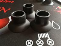 подставка для черных оптовых-Силиконовая подставка присоска резиновое основание держатель Vape Pen батареи дисплей большой черный присоски для 19 мм до 22 мм танк Mod