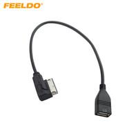 ingrosso usb interfacce audio-Interfaccia audio per auto FEELDO AMI / MDI / MMI al cavo adattatore USB per Audi A3 / A4 / A5 / A6 / VW TT / Jetta / GTI / GLI / Passat / CC / Touareg / EOS # 1557