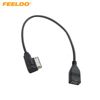 cable adaptador usb audi al por mayor-Interfaz de audio para automóvil FEELDO AMI / MDI / MMI Al cable adaptador USB para Audi A3 / A4 / A5 / A6 / VW TT / Jetta / GTI / GLI / Passat / CC / Touareg / EOS # 1557