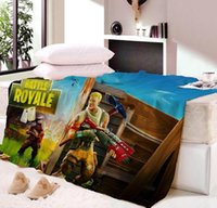 Wholesale thick warm blankets for sale - Fortnite Night High Density Thicken Soft Flannel Blanket Sofa Bed Sheet Plaid Double Side Thick Warm Blanket Dropship