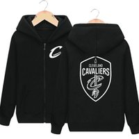 Wholesale Active Brush - Long sleeve hoodies LeBron James sweat shirts Basketball hat clothing Cardigan zipper coat Outdoor sport jacket Brushed sweatshirts