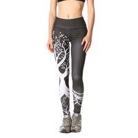 Wholesale yoga pant pattern free online - Tree Print Pattern High Elastic Gym Training Clothes Women Sports Fitness Running Leggings Female Pants Professional Yoga Sports Leggings S