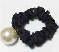 Wholesale big wedding hair for sale - Big Pearl Single Head Rope Flannelette Elastic Force Tie Wedding Favors For Guest Gift Party Souvenir Hair Accessories gm bb