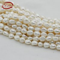 Wholesale Big Hole Pearls - SNH 10-11mm hot sale white baroque pearl strand AA grade with big hole wholesale