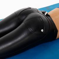 Рука Ак йога брюки производитель черный йога брюки Оптовая женщин колготки  искусственная кожа леггинсы женщин на складе навсегда e51c99704b886