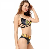ingrosso bikini giallo del merletto-Costume da bagno giallo di nuova moda Costume da bagno sexy di alta qualità con stampa floreale in pizzo solido