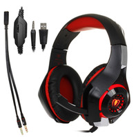 Wholesale playstation wired headset resale online - 3 mm Gaming headphone Earphone Gaming Headset Headphone Xbox One Headset with microphone for pc ps4 playstation laptop phone GM