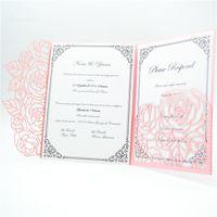 Invitaciones De La Boda Del Color De Rosa Caliente Online