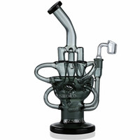 Wholesale water pipe recycler perc bong bowl for sale - Egg Fab Recycler Vortex Glass Bong Oil Rigs smoking water pipes Bongs with Perc pipe dab rig Cyclone Percolator quartz banger bowl heady