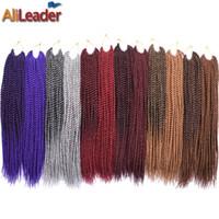 productos de pelo trenzado al por mayor-AliLeader Products Kanekalon Crochet Twist Cabello 18