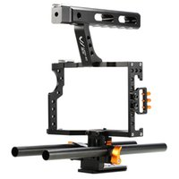 Wholesale 1 4 inch camera screw resale online - DSLR Camera Video Cage Stabilizer Rig For Sony A7S A7 A7R a7 With inch Screw Holes Camera Stablizer Handle