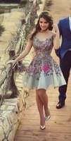 kısa şık evde kıyafetler elbiseler toptan satış-2019 Büyüleyici Kısa Kokteyl Elbiseleri Chic Sevgiliye A Hattı Homecoming Elbise Tam Dantel Aplikler Mini Etek Mezuniyet Sevimli Gelinlik Modelleri