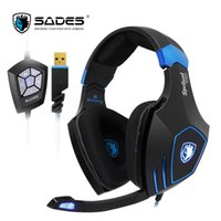 Wholesale Audio Vibration - SADES Spellond Pro Bongiovi Acoustics DPS Headphones 2 gaming audio modes Headset Deep Bass Vibration headphones for Gamer