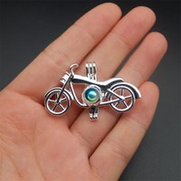 Wholesale bicycle day - Pearl cage necklace pendant, essential oil diffuser, bicycle with silver plated 10pcs, plus your pearl makes it more attractive.
