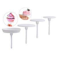 kek kek seti toptan satış-1 Takım / 4 Adet Kek Dekorasyon Araçları Sugarcraft Cupcake Kek Standı Buzlanma Krem Çiçek Dekorasyon Tırnak Seti Aracı ücretsiz kargo
