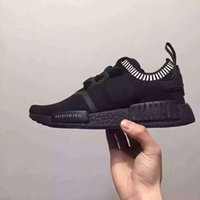 Wholesale nipple out - New wholesale womens and mens Japan Pack Triple Black Real Boost NMDR1 Primeknit Running Shoes Small nipples Boost With FREE SHIPPINGs