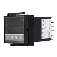 termostat dijital termometre toptan satış-Freeshipping Dijital Sıcaklık Kontrol LED PID termal regülatörü Termostat Termometre Sıcaklık sensörü ölçer termometro digitale