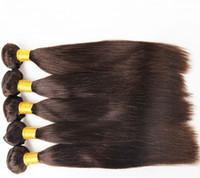 extensões remy misturadas do cabelo brasileiro venda por atacado-Top Quality Mix Comprimento 12 ~ 28 polegadas Extensões de Cabelo Brasileiro Cor Natural 6 pcs Pacote de Cabelo Humano Em Linha Reta wace Cabelo trama 300g lote, Livre DHL
