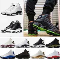 zapatillas de baloncesto mujer original al por mayor-Barato 13 zapatos de baloncesto hombres mujeres al aire libre zapatillas originales rojo China s 13s XIII Low Sports blanco negro gris azulado