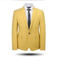 ingrosso abito da festa su misura-Gli uomini si adatta giacca smoking smoking da sposa su misura giacca di alta qualità di colore solido un abito da ballo partito di promenade