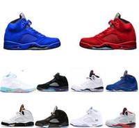 01f46196f1342 Chaussures de basket Big boy Sneakers 5 5s V kid Chaussure de sport en daim  bleu-rouge Oregon Ducks Olympic Grape OG International Flight