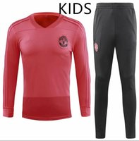Wholesale black children tracksuits for sale - Group buy Top quality new kids Long sleeve Soccer jacket training suit children football tracksuit jerseys black United
