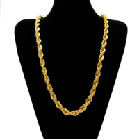 Wholesale twisted link chain stainless steel - Mens hip hop jewelry 10mm twist chains European and American style hot hiphop stainless steel chain necklaces accessories