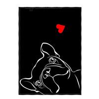ingrosso camping coperta leggera-Inch Black Dog Pattern Super Soft Throw Blanket per Lettino da viaggio leggero da campeggio Tiro da campeggio per bambini Adulti Tutti i mari