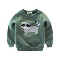 erkek çocuklar hoodies toptan satış-2019 ilkbahar sonbahar moda çocuk tişörtü çocuk spor hoodies bebek erkek karikatür hayvan ceket ceket çocuk giysileri