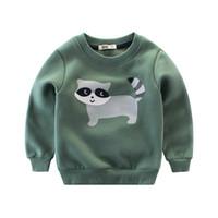 2019 spring autumn Fashion Children Sweatshirts Children's sport hoodies Baby Boys cartoon Animal coat jacket kids clothes