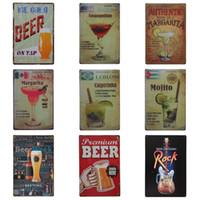 Wholesale fun digital - Multi Design Drinking Theme Tin Poster For Bar Dessert Shop Hang Decoration Creative Fun Iron Painting Sweet Style Tins Sign 20*30cm Z