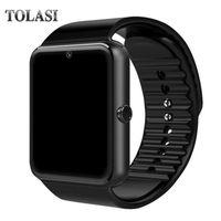 bluetooth push оптовых-Оригинальные смарт-часы GT08 часы Sim-карты Push сообщение Bluetooth для Android IOS apple Phone PK Q18 DZ09 Smartwatch