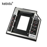 адаптер hdd caddy bay оптовых-Kebidu 2nd HD SATA Hard Disk Drive HDD Caddy Adapter Drive Bay 2.5 2nd 9.5mm Ssd For Cd Dvd Rom Optical Bay