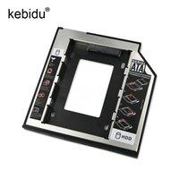 2.5 sata ssd toptan satış-Kebidu 2nd HD SATA Sabit Disk Sürücüsü HDD Caddy Adaptörü Sürücü Bay 2.5 Cd Dvd Rom Optik Bay Için 9.5mm Ssd
