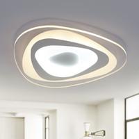 decke führte ultradünne großhandel-Ultradünne Oberfläche montiert Dreieck Moderne LED Deckenleuchten Lampe für Wohnzimmer Schlafzimmer Lüster de Sala Hause Dec Deckenleuchte