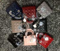 Wholesale luxury cell phones diamonds online – custom 2019 Luxury Quality Brand design Lady Plaid Shoulder Bag Genuine Patent leather Plaid Chain Bag Lambskin with Charms Miss Handbag